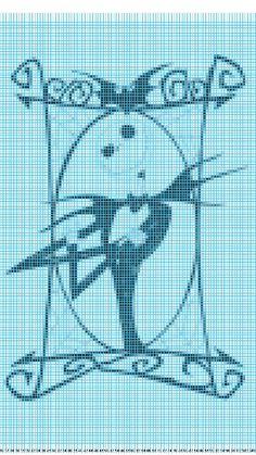 Jack the nightmare before christmas pixel, crochet, cross stitch.