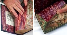 Hidden paintings in old books!  If we inspect things closely, we can find interesting secret messages that are invisible at first glance. This is also true for fore-edge paintings, illustrations done on the edges of the pages of books. A lot of them 'hide' from the naked eye and can be viewed only if the pages are fanned.
