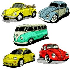 VW Volkswagon Embroidery Design Discount Value Pack
