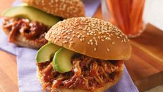 Enjoy these slow-cooked pork sandwiches spiced with chipotle chiles, adobo and Muir Glen® tomato sauce - a flavorful meal.