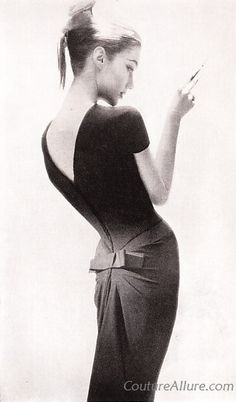 Couture Allure Vintage Fashion: Little Black Dresses - 1956. S)