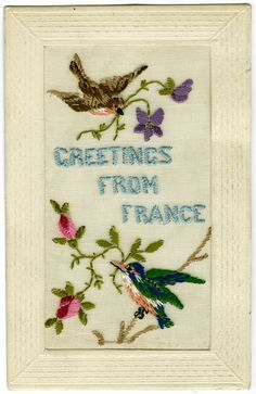 An embroidered postcard from 1914