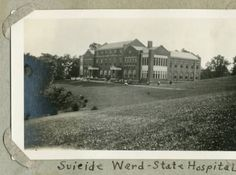 Konneker Research Laboratories formerly Suicide Ward at Athens Mental Health Center, 1921. :: Ohio University Archives