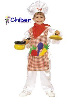 Disfraz Pequeño Cocinero: Un disfraz de buena calidad, para todos aquellos pequeños que quieren emular a los grandes Chefs en las fiestas de Carnaval o de disfraces. http://www.disfraceschiber.es/331-disfraz-pequeno-cocinero.html