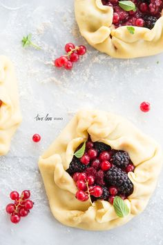 Handmade Sour Cream Tartlets with Summer Berries — Two Loves Studio | Food Photography