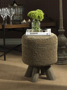 Barclay Butera Equestrian Woven Foot Stool http://www.carlyleavenue.com/collections/whats-new/products/barclay-butera-equestrian-woven-foot-stool