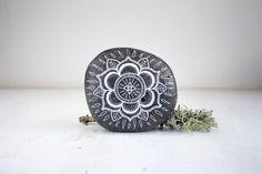 Small Hand-Painted Mandala Stone