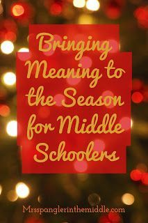 Are you a Middle School Teacher? Do you teach teens and tweens? Then you'll love this Christmas Teaching Idea to promote a different kind of gift giving in and out of the classroom for the holidays! Christmas Sunday School Lessons, Student Christmas Gifts, Christmas Bible, Christmas Wishes, Middle School Ela, Middle School English, Middle School Teachers, High School, Youth Group Lessons