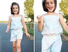 DIY Tutorial: DIY Rompers / DIY Clothes Refashion : DIY Little Girl Romper - Bead