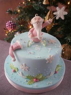 Santa Claus in Pink - Cake by Il Laboratorio Di Raffy
