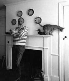 Edward Gorey & a Gato Friend