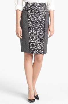 I want to make this. Rachel Roy Mixed Media Pencil Skirt available at #Nordstrom