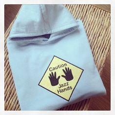 Caution Jazz Hands dancers hoody at jellibabies personalised baby and children's clothes and accessories UK