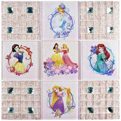 EliteTile Disney Princesses Random Sized Glass Mosaic Tile in Glossy Pink Disney Magic, Disney Mickey, Disney Art, Disney Crafts, Disney Dream, Disney Stuff, Disney Princess Room, Princess Room Decor, Stone Mosaic