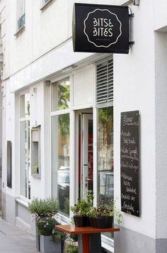 essen in wien: bits and bites Cafe Restaurant, Interior Architecture, Interior Design, Vienna, Austria, Places, Outdoor Decor, Bavaria, Switzerland