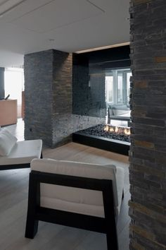| P | Glass fireplace