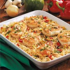 #6 My Mother's Favorite Food Chicken and Rice casserole one of two dishes she made regularly #somebodysmothers