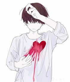 Engaging Tips Broken Heart Boy Drawing Anime Girl Broken Heart Drawings Dark Anime, Anime Boy Kawaii, Anime Love, Broken Heart Boy, Anime Boy Crying, Manga Anime, Anime Art, Anime Triste, Arte Obscura