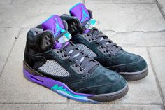 "Air Jordan 5 ""Black Grape"" christmas gift Black Grapes, Jordan 5, High Tops, Air Jordans, High Top Sneakers, Christmas, Gifts, Shoes, Fashion"