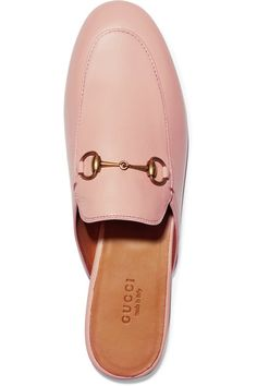 Gucci - Princetown Horsebit-detailed Leather Slippers - Blush
