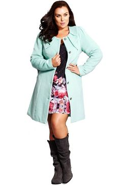 City+Chic+'Princess'+Coat+(Plus+Size)+available+at+#Nordstrom