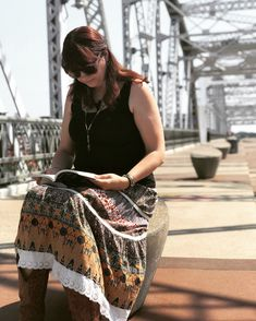 Reading spot in Nashville. On the bridge. Researching for the next book.