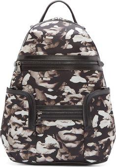 Neil Barrett Black Small Statue Camo Backpack
