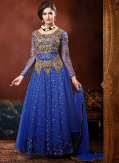 Plus Size Anarkali | Magnificent Embroidered Net Anarkalis