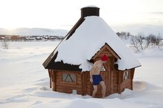 Winter cottage in Kilpisjarvi, Finnish Lapland by Visit Finland, via Flickr  Canada can do it too!  #CDNGetaway