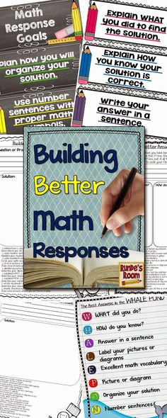 Runde's Room: Still Building Better Answers in Math - start at the beginning of the year with scaffolded lessons to build your students' math responses step by step.