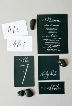 Deep Teal | Calligraphed Wedding Invitation Collection by Hazel Wonderland