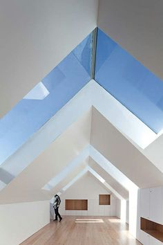 oh, arched skylight (Fonte Da Luz / Barbosa & Guimarães) Architecture Résidentielle, Amazing Architecture, Installation Architecture, Sustainable Architecture, Attic Renovation, Attic Remodel, Glass Roof, Glass Ceiling, Sky Ceiling