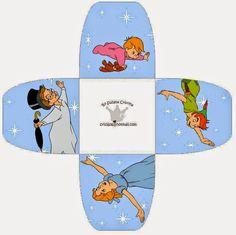 Peter Pan: Free Printable Open Boxes.