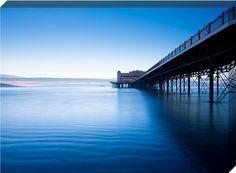 Grand Pier At Dusk, Weston Super Mare Canvas Print