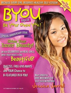 BYOU 'Be Your Own You!' Magazine is a self-esteem publication for tween girls, ages 8-14.