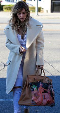 f06689f40e Kim Kardashian carrying a one-of-a-kind Hermès Birkin bag Hermes Bolide