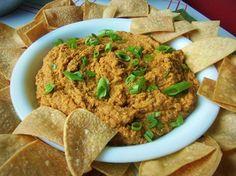 Spicy Pinto Bean Hummus with Chips - Que Rica Vida