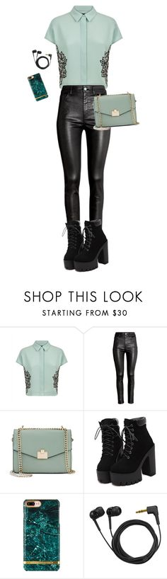"""Mandy mint"" by stevie-pumpkin ❤ liked on Polyvore featuring Jaeger, H&M, Jennifer Lopez and Sennheiser"