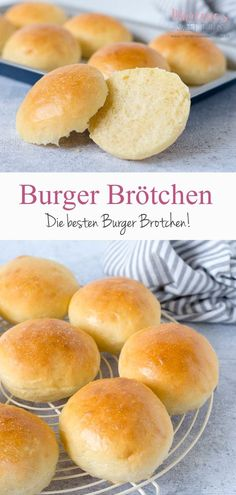 So einfach und lecker können Burger Brötchen sein. Die Buns sind mit einwenig … Burger rolls can be so simple and tasty. The Buns are with a little effort absolutely airy and tasty. The rolls can also be frozen and thawed according to need. Healthy Burger Recipes, Grilling Recipes, Best Homemade Burgers, Burger Co, Beste Burger, Copycat Recipes, Bread Recipes, Bread Baking, Food And Drink