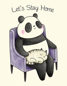 Items similar to Let's Stay Home - Panda and Cat Print on Etsy Game Character, Character Design, Gengar Pokemon, Lets Stay Home, Wallpaper Iphone Cute, Kawaii Drawings, Snoring, Almost Always, Illustration Art