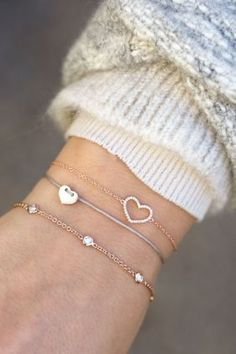 my love herz armband grau rose vergoldet <3 NEWONE-SHOP.COM