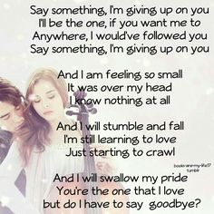 """""""Say Something"""" from If I Stay"""