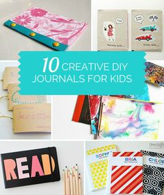 10 Creative DIY Journals for Kids. These are great for recording your kids art, memories and writing! Outdoor Fun For Kids, Fun Crafts For Kids, Craft Activities For Kids, Summer Crafts, Crafts To Do, Projects For Kids, Diy For Kids, Paper Crafts, Diy Crafts