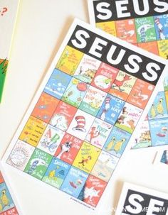 Dr. Seuss book bingo is perfect for any Dr. Seuss themed party, shower and the classroom.