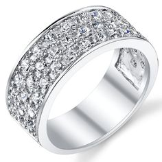 Sterling Silver Men's Wedding Band Engagement Ring With Cubic Zirconia CZ 9MM 3 Row Size 7 Metal Masters Co., MEN'S SHOP if you wish to buy just CLICK on AMAZON right HERE http://www.amazon.com/dp/B00D3RH1AE/ref=cm_sw_r_pi_dp_gorRsb19HXDD79C9