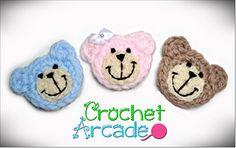 Ravelry: Crochet Teddy Bear Applique Pattern pattern by Aneta Izabela