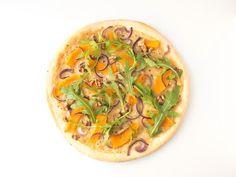 vegane Kürbis-Pizza