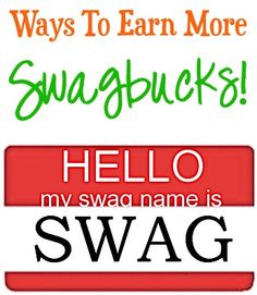 """11 Ways To Earn More Swagbucks!  Cash in your """"swagbucks"""" reward points for FREE gift cards including Starbucks, Amazon, Target, Gas Cards and more!!"""