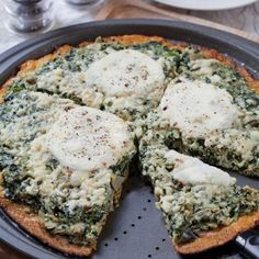 Spinach Artichoke Ricotta Pizza with Cauliflower Crust - Healthy Easy Recipes with Spring Foods - Shape Magazine