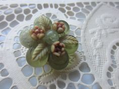 Vintage Buttons  Beautiful carved celluloid by pillowtalkswf, $9.95